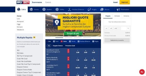 Sky Bet - pokerstars sports Italia scommesse