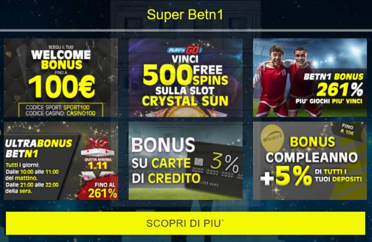 betn1 italia adm (aams) bonus scommesse