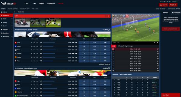 TornadoBet - casino online, casinò Live, bookmaker scommesse sportive - Tornado Bet