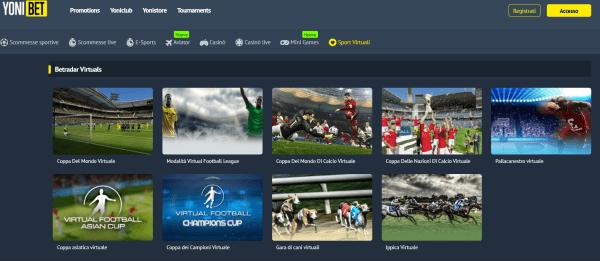 Yonibet scommesse sport virtuali
