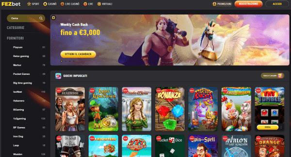 FEZbet casino online